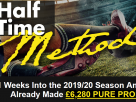 Half Time Method : How To Make £20,000 This Season Without Losing A Single Stake To The Bookies