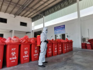 Dump used face masks properly in red bins