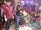 One dead, 7 hurt as car demolishes roadside Chiang Rai restaurant